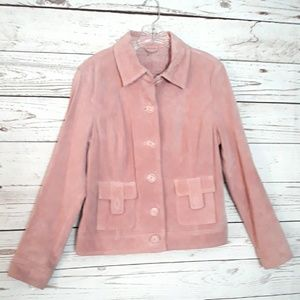 Muave Pink Genuine Suede Leather Jacket